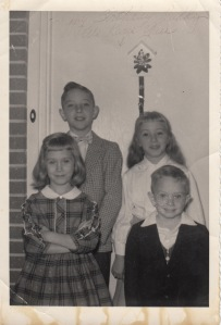 Christmas as a child with my brothers and sister.